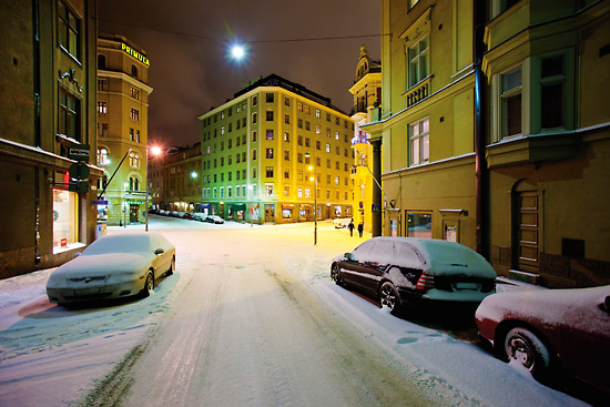 Five streets intersect at Viiskulma (Five-angle), downtown near St John's Church. Photo: Esko Jämsä