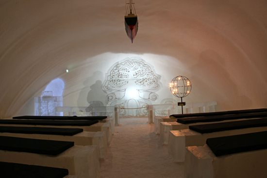 The castle contains a snow chapel, where dozens of couples have gotten married and dozens of babies have been christened. Photo: Tim Bird