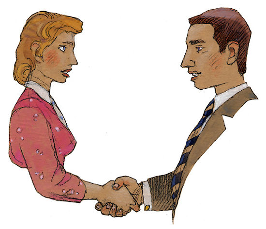 When meeting, Finns shake hands and make eye contact. Handshakes are brief and firm, and involve no supporting gestures.