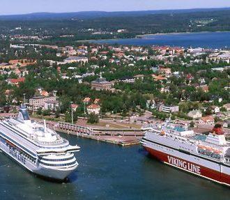 Passenger ships in Mariehamn. Photo: Hannu Vallas