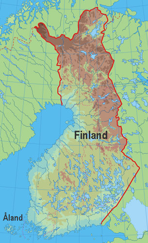 This is where Åland is located on the map.