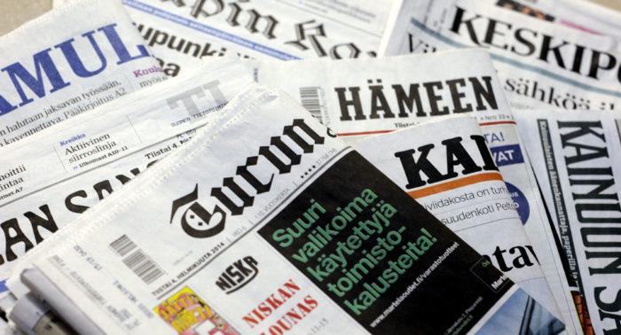 Большинство финских газет являются областными, региональными или местными.