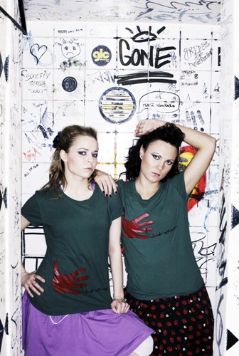 """Finnish pop band PMMP participated in a campaign against sexual harassment, donning Mentalwear that reads """"Hands off, creep!"""""""