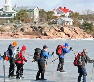 Финляндия, поход на коньках, походы на коньках, активный отдых в Финляндии, спорт в Финляндии