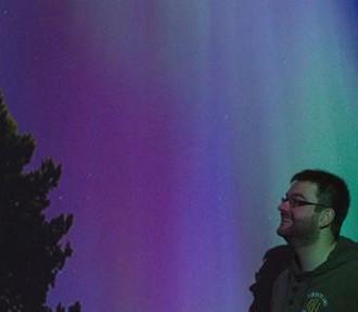 拍摄北极光的德国人托马斯·卡斯特,北极光,旅行,奥卢,芬兰