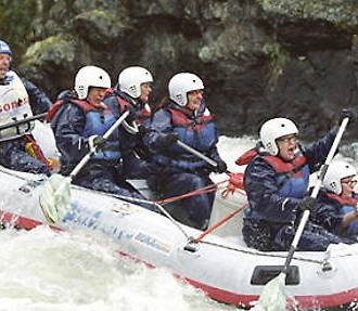 Whitewater river rafting near Kuusamo