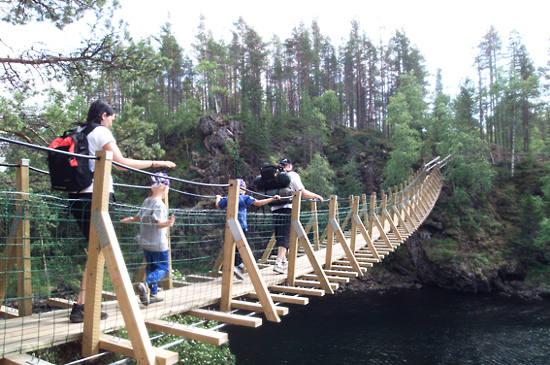 Hiking the Bear's Trail (Karhunkierros) in Oulanka National Park.