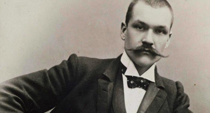 Not as stern as he looked: Gallen-Kallela shows off his hipster moustache in this 1890 studio portrait