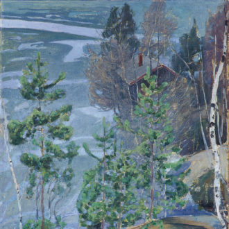 Compositor finlandês Jean Sibelius, artistas Akseli Gallen-Kallela, Pekka Halonen, celebração de 150 anos de aniversário, Facebook, Ainola, Tarvaspää, Halosenniemi, Lago Tuusula, Helsinque, Finlândia