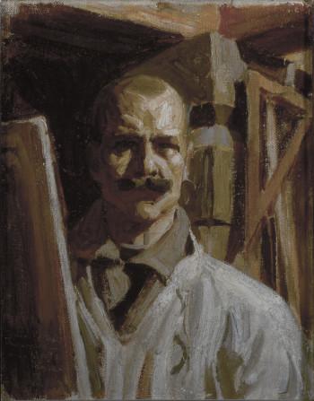 Аксели Галлен-Каллела написал свой автопортрет в 1916 году для Галереи Уффици во Флоренции, Италия (нажмите на фото для просмотра изображения полностью).