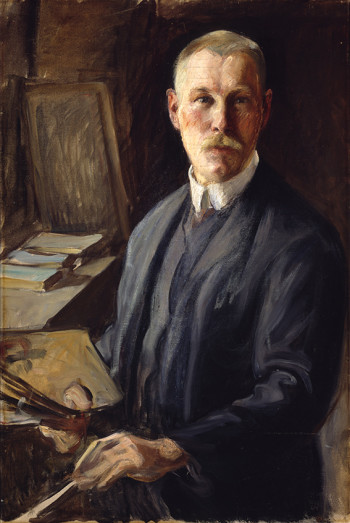 "Pekka Halonen, shown here in a self-portrait, has ""reappeared"" and is posting on Facebook, as is his colleague Akseli Gallen-Kallela. (Click on picture to see uncropped version.)"