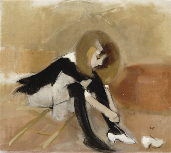 Photo: Finnish National Gallery, Central Art Archives/Kari Lehtinen       Helene Schjerfbeck: Dancing shoes (1939 or 1940), Private collection.    		Photo: Finnish National Gallery, Central Art Archives/H. Aaltonen   		   		Helene Schjerfbeck: Red Apples (1915) 		 		 		Photo: Finnish National Gallery, Central Art Archives/Hannu Aaltonen   		   		Helene Schjerfbeck: The Convalescent (1888)