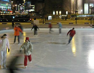 Helsinki's Ice Park skating rink is located right in the heart of the city, next to the Railway Station. Photo: Katja Pantzar