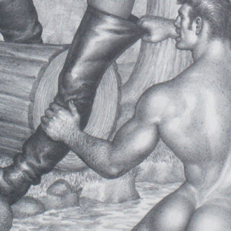 Tom of Finland (Touko Laaksonen, 1920-1991), Untitled, 1966, Graphite on paper. © 1966 Tom of Finland Foundation. See the art piece here
