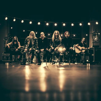 The Raskasta Joulua band is not just giving by playing well-loved heavy carols but they also collect donations at their gigs for development projects around the world. This Christmas they are hoping to raise more than a million euros for peace projects. From the left Tuomas Wäinölä (guitar), Marco Hietala (Nightwish; bass, vocals), JP Leppäluoto (Charon; vocals), Jarkko Ahola (Teräsbetoni; vocals, bass), Tony Kakko (Sonata Arctica; vocals) and Erkka Korhonen (guitar).