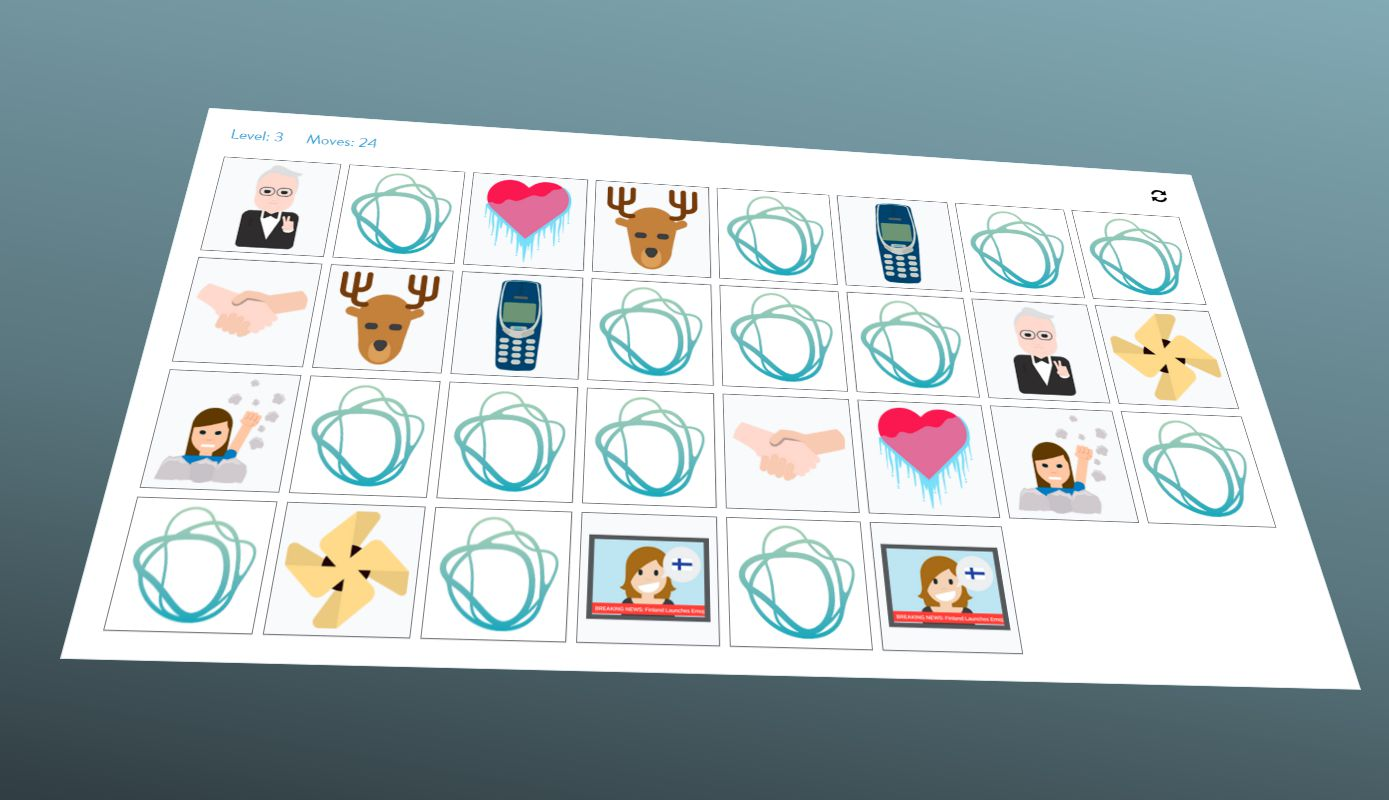 #FINemoji Memory Game