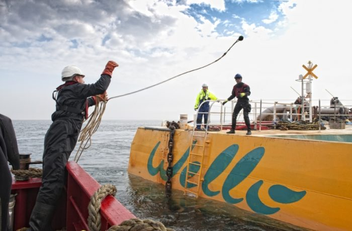 Wello estimates that each Penguin produces between 160 kW and 1 MW of power, or enough electricity to power some 400 homes. Strings of them could be installed in open-sea areas without interfering with shipping or marine life.