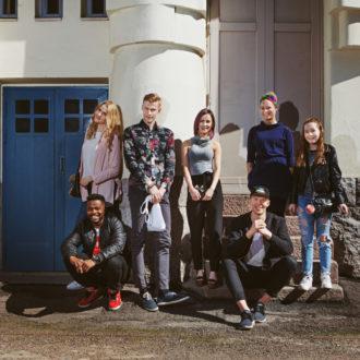 ThisisFINLAND proudly presents the #proudtubeFIN stars: (from left) Selma, Luyeye (aka Seksikäs suklaa), Roni, Elina, Rony, Salli and Helmi. Absent: Hanad (aka Dosdela), Iivari and Tuomo.