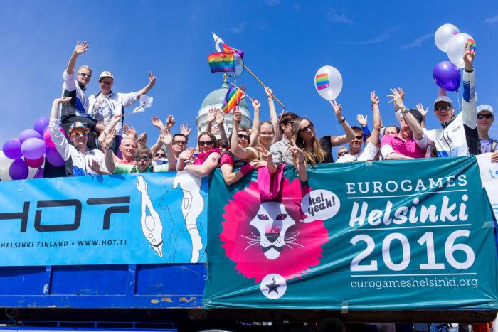 Die 16. EuroGames werden zum ersten Mal in Finnland, und zwar in Helsinki, ausgetragen.