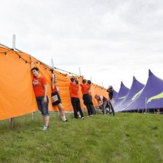 "Finnish volunteer power, known as ""talkoot"", helps get all kinds of jobs done, including preparations for major summer festivals such as Ilosaarirock in Joensuu, in eastern Finland."