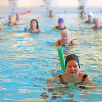Swimming is a popular pastime in Finland, which has more than 180,000 lakes, and many people continue to swim or do water aerobics indoors to stay in shape after retirement.