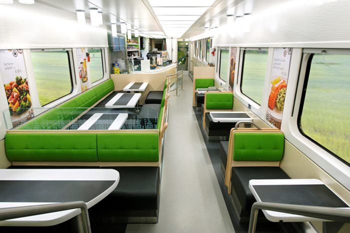 Link Design helped create new double-decker dining cars for the Finnish state railway company, VR.