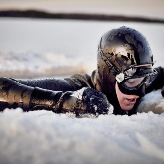 """""""I dived under the ice to get a perspective on it and it was literally breath taking."""