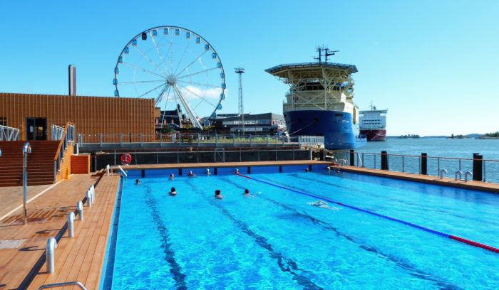 At Allas Sea Pool, you get sauna and swimming in an urban harbour setting.