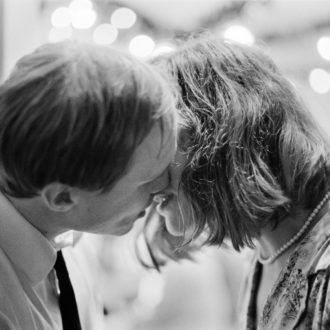 "Boxing and romance: Olli Mäki (played by Jarkko Lahti) kisses Raija (Oona Airola) in ""The Happiest Day in the Life of Olli Mäki,"" Finland's newest Oscar contender."
