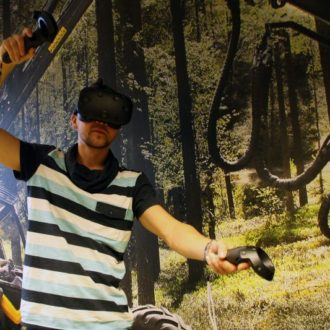 Virtual Reality Forest's projects use mixed reality, which combines virtual reality (VR) and augmented reality (AR).