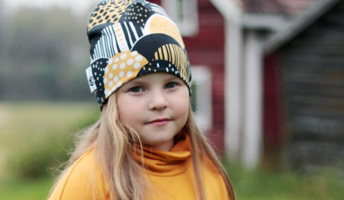 "PaaPii Design, based in the Ostrobothnia region, produces family-oriented garments including hats such as this one, entitled ""Harvest."""