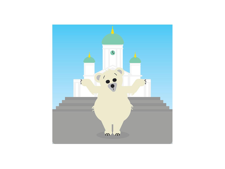 الدب القطبي هذه هي فنلندا