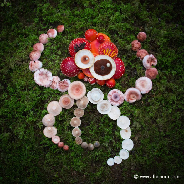 A mushroom constellation in the shape of an octopus.