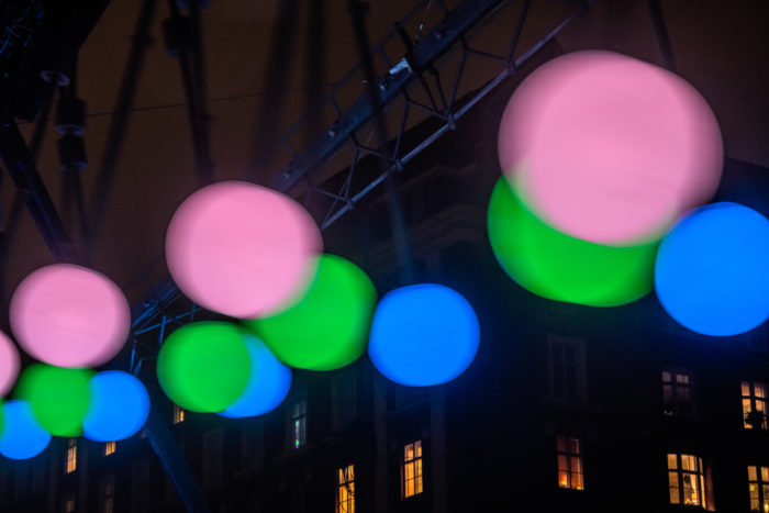 Colourful round-shaped lights.