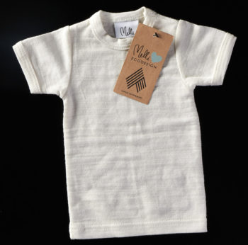 A white baby t-shirt.