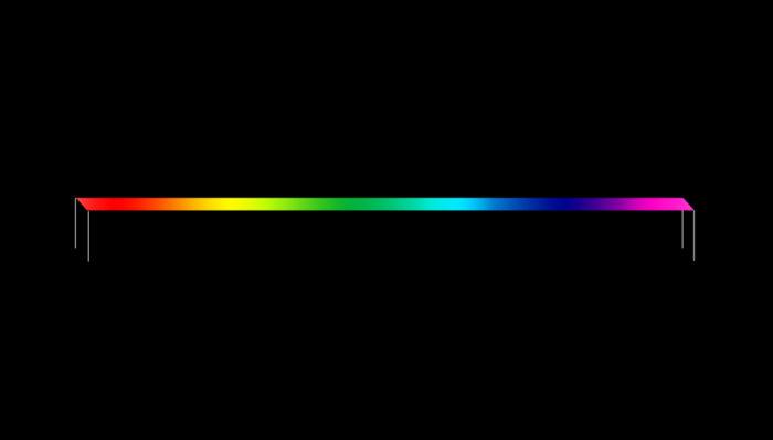 تحاول اللوحة الأولية الخاصة بلوحة Timeline (الجدول الزمني)، التي رسمها إميل فيلمان، ضغط الكون في خط واحد.