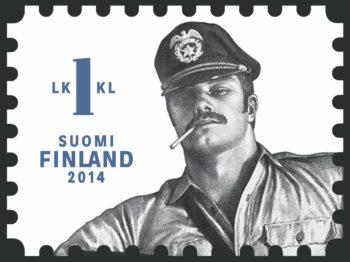 يُعد طابع توم الفنلندي هذا أحد طوابع مجموعة 2014 المكونة من ثلاثة طوابع والتي أصبحت المجموعة الأكثر مبيعًا على الإطلاق التي أصدرتها خدمة البريد الفنلندية.