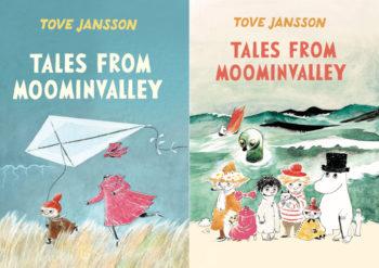 Две книжных обложки с изображениями персонажей из муми-рассказов.
