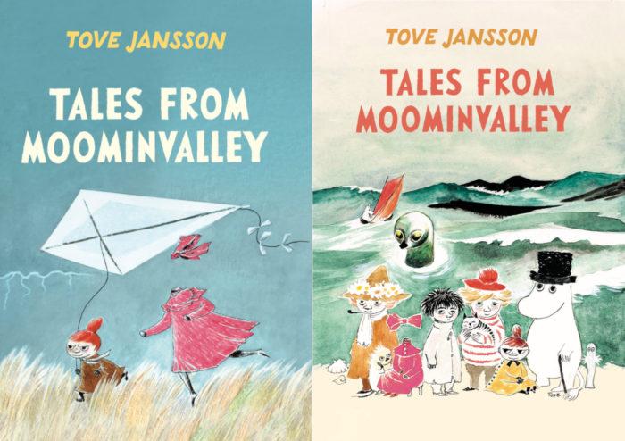 On voit deux couvertures de livres dont les illustrations représentent des personnages des Moumines.